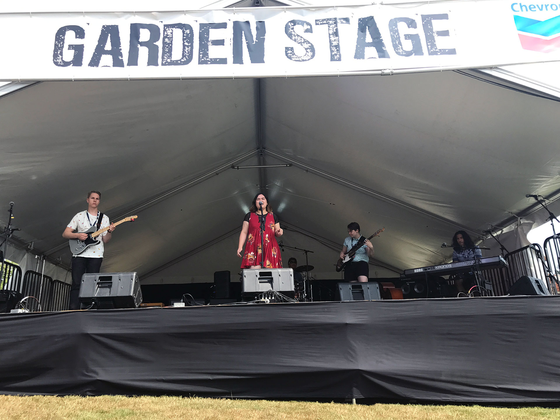 Kaya and band on the Garden Stage
